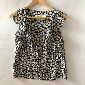Anthro Portrait of a Girl Silk Polka Top Blouse 4